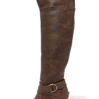 Bootsy Columns Brown Over the Knee Boots