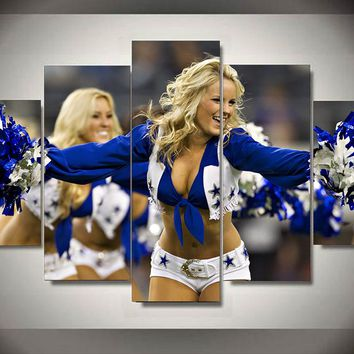 Dallas Cowboys: 5pc Cheerleader Wall Art; 4 different size variations