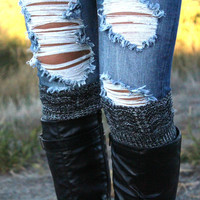 Reversible Knit Boot Cuffs