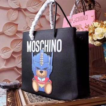Moschino Teddy Beer Leather Shopping Bag #42361 - Best Deal Online