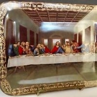 Bradford Exchange The Last Supper Plate, Christopher Nick, Leonardo Da Vinci