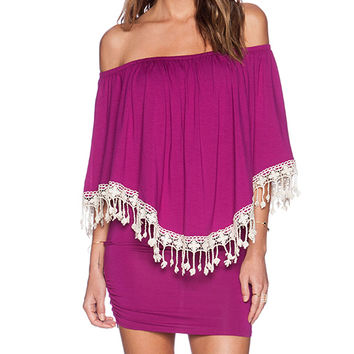 VAVA by Joy Han Cecily Convertible Dress in Purple