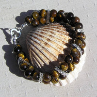 "Gold Tiger Eye Gemstone Crystal Bracelet - ""El Dorado"""