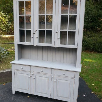 Reclaimed Barn Wood Kitchen Dining Hutch China Cabinet Buffett With Drawers