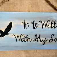 It Is Well With My Soul. Inspiring CNC-carved wood sign