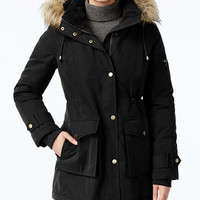 RACHEL Rachel Roy Faux-Fur-Trim Hooded Parka, Only at Macy's | macys.com