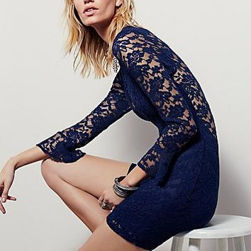 Free People Womens Seeing Stars Bodycon Dress