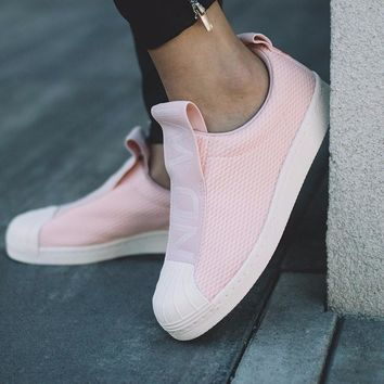 Adidas Superstar BW35 Slip On ¡®Ice Pink/Ftwr White/Chalk¡¯