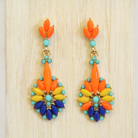 Neon Orange Toucan Earrings