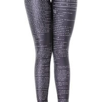 The Tragedy of Hamlet Leggings Design 119