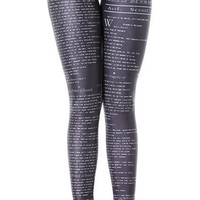 The Tragedy of Hamlet Leggings