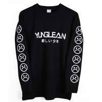 Yung Lean Long Sleeve T Shirt Japanese