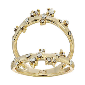 Alexis Bittar Double Band Satellite Crystal Ring