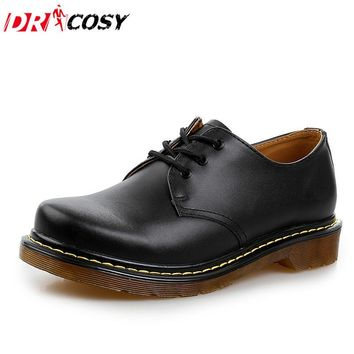 New Fashion Couples Genuine Leather Dr. Martin Shoes Vintage Style Men Boots Women Sho