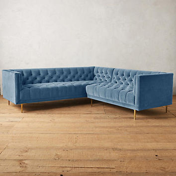 Velvet Mina Right Sectional