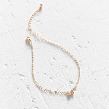 Delicate Butterfly Anklet   Urban Outfitters