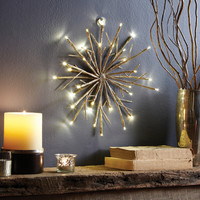 Apothecary & Company 12in LED Champagne Glitter Snowflake | Overstock.com Shopping - The Best Deals on Seasonal Decor