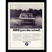"1970 BMW Sedan Car Ad ""Schnell"" Vintage Advertisement Print"