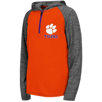 Clemson Tigers Youth Smokerise Long Sleeve Hooded T-Shirt – Orange - http://www.shareasale.com/m-pr.cfm?merchantID=7124&userID=1042934&productID=554818948 / Clemson Tigers