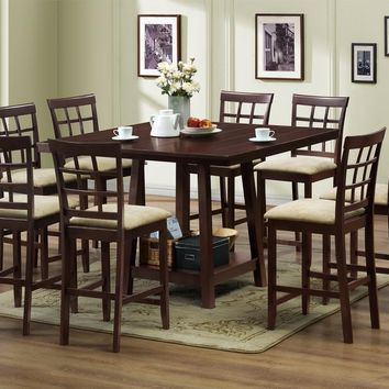 Baxton Studio Katelyn Modern Pub Table Set - 7 Piece Modern Dining Set Set of