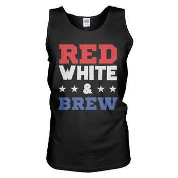 Red, White, and Brew Tank Top