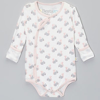 Baby Roo Pink Squirrel Fold-Over Bodysuit - Infant   zulily