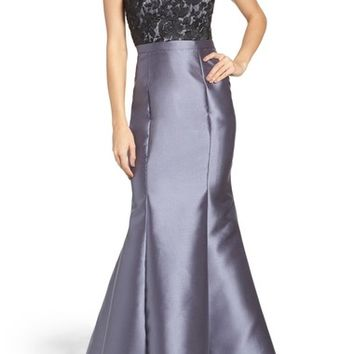 Xscape Lace & Satin Mermaid Dress | Nordstrom