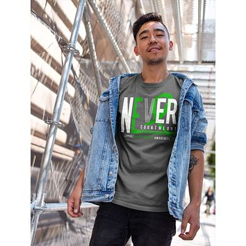 Men's Mental Health T-shirt Never Count Me Out Mental Health Shirts Green Ribbon TShirt Mental Health Shirts Typography