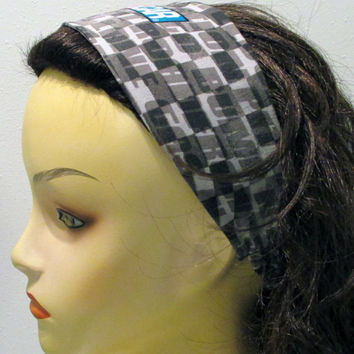 Nascar Reversible Wide Fabric Headband Racing headband 3 inch Headband