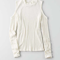 AEO Soft & Sexy Cold Shoulder Top , Chalk