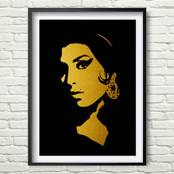Gold Amy Winehouse Art music Minimalist poster Art Printable File Gold Wall Art Amy Winehouse Art poster Home Decor Digital Print *42*