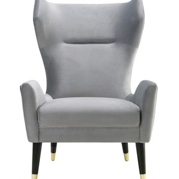 Logan Grey Velvet Chair