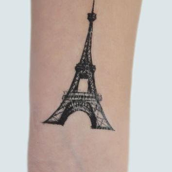 Eiffel Tower Temporary Tattoo, Paris Temporary Tattoo, Birthday Gift, Gift Ideas For Women, Modern Art, Eiffel Tower Illustration