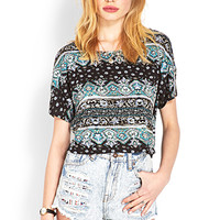 Relaxed Abstract Crop Top