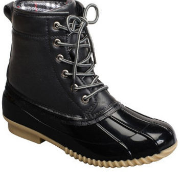 Gone Rogue Duck Boots - Black
