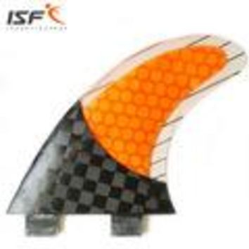 FCS Carbon Fins  Quad G3 5 7  Longboard Paddle Board Fins Purple or Yellow Fins, Wood Grain and More