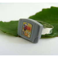 Nintendo 64 Cartridge Ring -  Zelda, Harvest Moon, GoldenEye and more