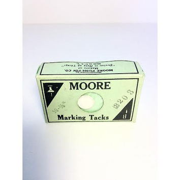 Vintage Moore Map Tacks Marking Tack Push Pin Celluloid Thumbtacks Box