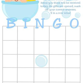 10 Cute Bath Baby Rubber Duck Baby Shower Bingo Cards