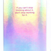 If You Can't Stop Thinking About It, Hologram Journal