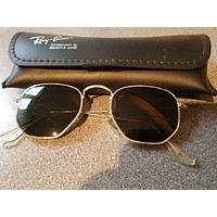 Vintage Ray Ban sunglasses. Steel frame. Almost pentagonal