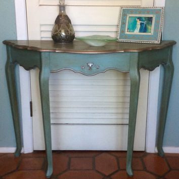 Blue Foyer/Entryway Table French Style