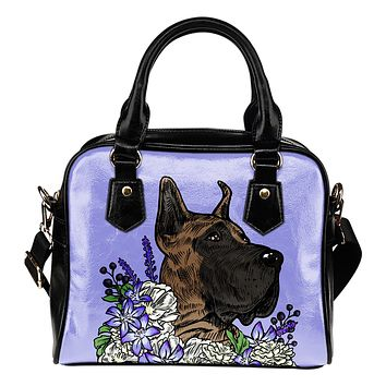 Illustrated Great Dane Handbag