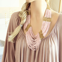 Arizona Stone Necklace in Pink