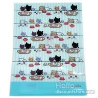 Kutusita Nyanko 2 Pocket File : Blue $2.99
