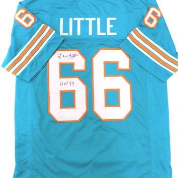 Larry Little Signed Autographed Miami Dolphins Football Jersey (JSA COA)
