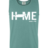 Custom Tennessee Home Comfort Color Tank Top. Show Your state pride and state love. Perfect for the Summer and the Beach