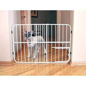 Tuffy Expandable Pet Gate With Door