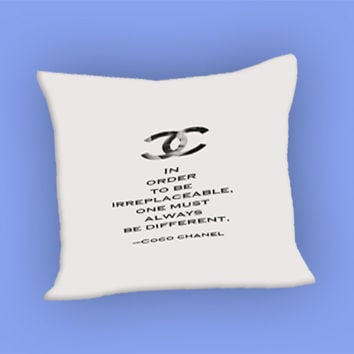 Choco Chanel Quotes for Pillow Case, Pillow Cover, Custom Pillow Case **