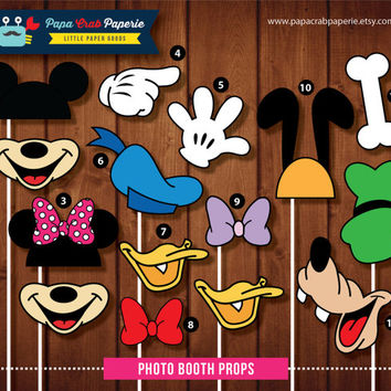 Instant Download / SALE 37 Pieces Disney Inspired Photo Booth Props  + 1 Photo Booth Sign / U.P 14.99 / SALE till 31 April 2014